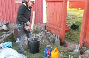 """Renovering av """"skolhuset"""" på Garpens fyrplats, Bergkvara. 2014-2015."""